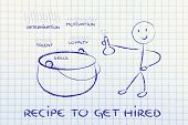 Funny Character Creating The Recipe To Get Hired