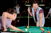 Snooker playing