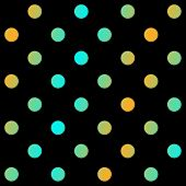 Modern polka dots background