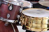 foto of drum-kit  - Drum kit isolated on white background - JPG