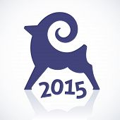 Geometric symbol of a goat 2015