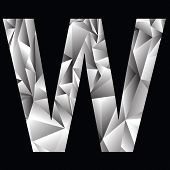 Crystal Letter  W