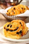 Fresh Gluten Free Sweet Swirl Bun With Raisins