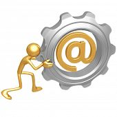 Email Gear Push