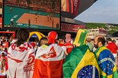 Polish and Brazilian fans