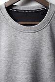 Closeup Of Grey Jumper