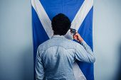 Sad Scotsman Comitting Suicide