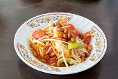 picture of green papaya salad  - Papaya Salad - JPG