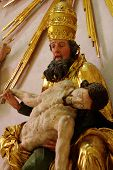 stock photo of piety  - Piety God the Father with the Son of God sculpture religion art - JPG