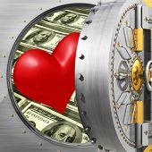 Heart In Bank Vault