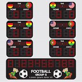 Scoreboard Football Tournament.