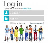 Casual People Account LogIn Security Protection Concept