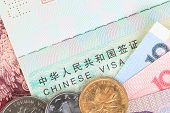 pic of yuan  - Chinese or Yuan banknotes money and coins from China - JPG