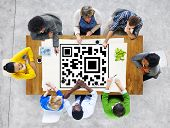 QR Code Identity Marketing Data Encryption Concept