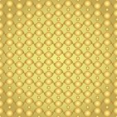 Gold Abstract Circle And Curve Cup Pattern In Retro Style