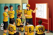 Soccer Players In Locker Room