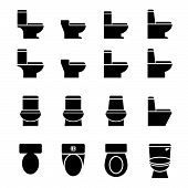 Water Closet Icon Set