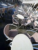 Venice Palace Called Procuratie Vecchie In Saint Mark Square And The Empty Chairs