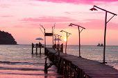 picture of nightfall  - Nightfall by the Sea Way to Sunset  - JPG