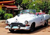 Old  retro classic  car in Havana,Cuba