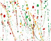 Watercolor Splashes Set In Vector.