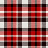 Seamless Red Plaid Tartan Cloth Background Or Texture