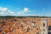 Panorama Of Old Florence And The Church Saint Mary Of The Flower In Florence
