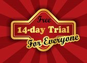 Free 14-day Trial Label In Retro Style