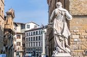 Historic Centre And Statues In Florence, Italy