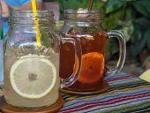 Lemon Soda and Lemon Tea