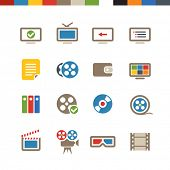 Cinema web icons collection