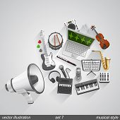 Megaphone musical style set 7