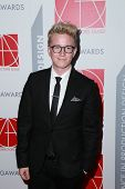 LOS ANGELES - JAN 31:  Tyler Oakley at the 19th Annual Art Directors Guild Excellence in Production Design Awards at a Beverly Hilton Hotel on January 31, 2015 in Beverly Hills, CA