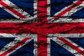 United Kingdom National Flag Painted Wooden Bark Tree