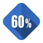 60 percent flat icon sale sign