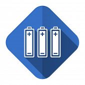 battery flat icon power sign