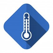 thermometer flat icon temperature sign