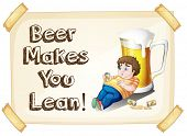 Illustration of a man drinking beer