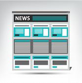 web site news, newspaper, journal template in a browser window