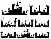 Fantasy Castles For Design. Vector
