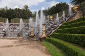 Famous Fountains In The Park Of Versailles Palace