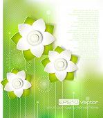 Spring cutout flower design. Vector illustration