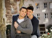 Young Happy Gay Men Couple Free Homosexual Love Concept On Street