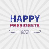Gray Sunburst With Ray Of Light. Presidents Day Background Flat Design