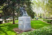Statue Of Poet Sister Juana Ines De La Cruz Dedicated By Mexico To Madrid
