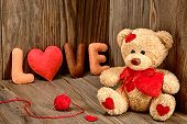 stock photo of teddy  - Valentines Day - JPG