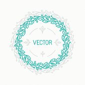 Vector Floral Wreath And Linear Border