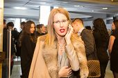 MOSCOW - JANUARY, 28: Ksenia Sobchak.  Premiere of the movie Leviathan at Moscow Cinema,  January, 28, 2015 in Moscow, Russia