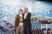 MOSCOW - JANUARY, 28: Film Director Andrey Zvyagintsev, S. Pokhodaev.  Premiere of the movie Leviathan at Moscow Cinema,  January, 28, 2015 in Moscow, Russia