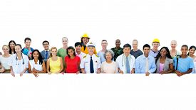 stock photo of diversity  - Diversity of Professional Occupation People Workers Togetherness Concept - JPG